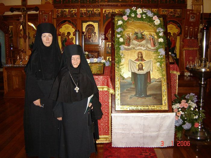 Старица Евпраксия с матушкой Марией, 2006 год