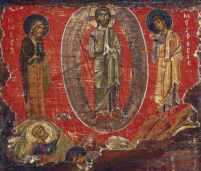 12th century Byzantine icon of the Transfiguration of the Lord