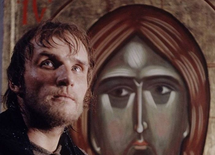На съемках фильма «Андрей Рублев». Осень 1965 г.