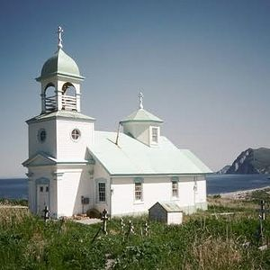 The Ascension of Our Lord Church, Karluk, AK, was built in 1888.