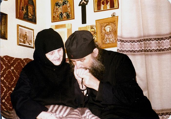 Elder Ephraim with his mother, Nun Theophano