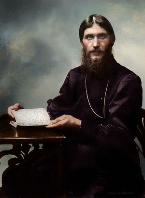 Gregory Rasputin, 1909 Photo: K. Bulla (colorized).