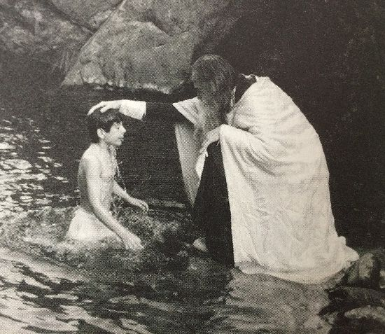 Martinian's Baptism at the hands of Fr. Seraphim.