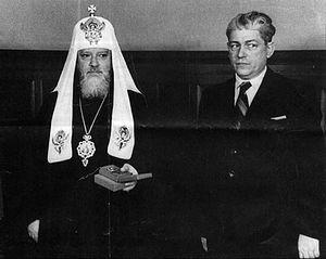 Святейший Патриарх Алексий I (Симанский) и Председатель Совета по делам Русской Православной Церкви Г.Г. Карпов