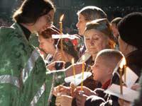 Таинство елеосвящения. Фото сайта Успенской Киево-Печерской Лавры