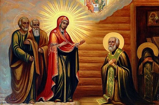 Appearance of the Mother of God to St. Sergius.