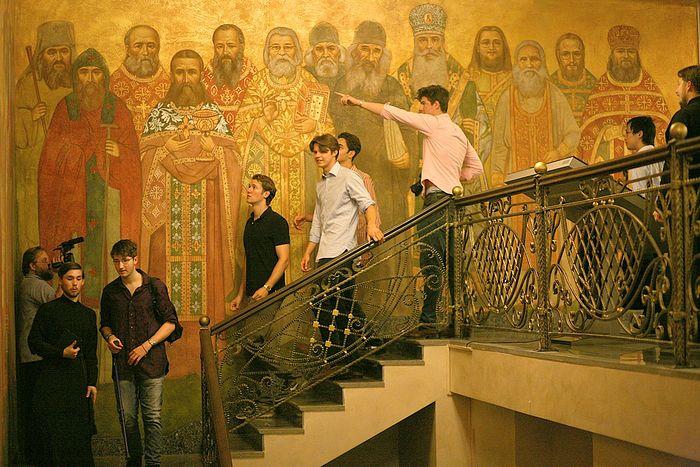 Студенты Итона в Сретенской духовной семинарии. Фото: Православие.Ru