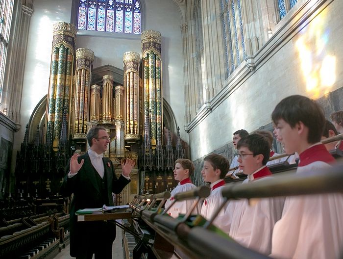 Choir practice in Eton College