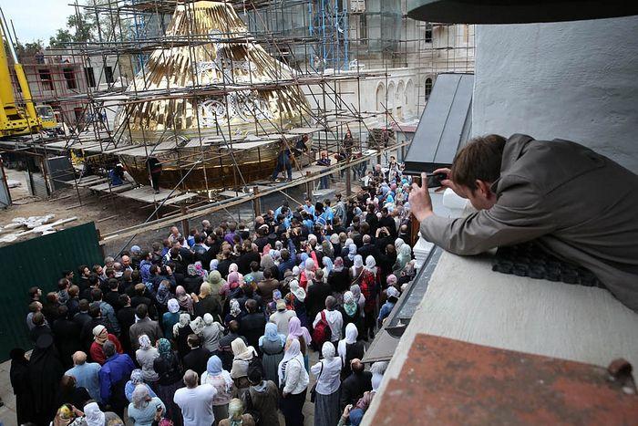 Освящение куполов. Фото: Владимир Байков