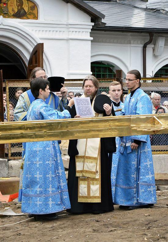 Молитва на освящение креста. Фото: иером.Игнатий (Шестаков)