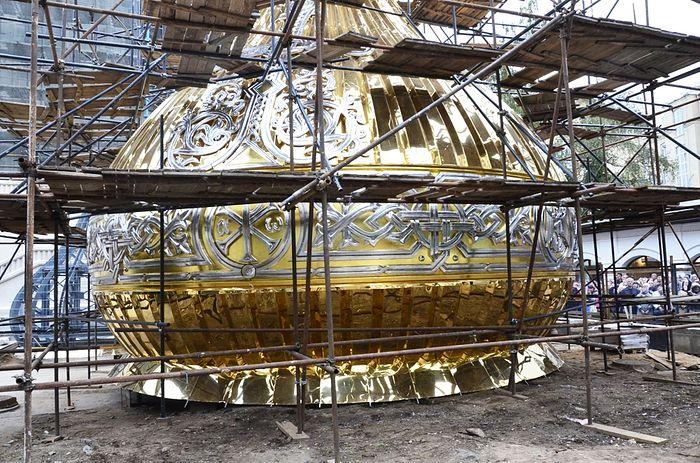 Центральный купол нового храма. Фото: иером.Игнатий (Шестаков)