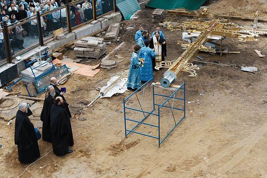 Освећење крста. Фото. Иван Ткаченко