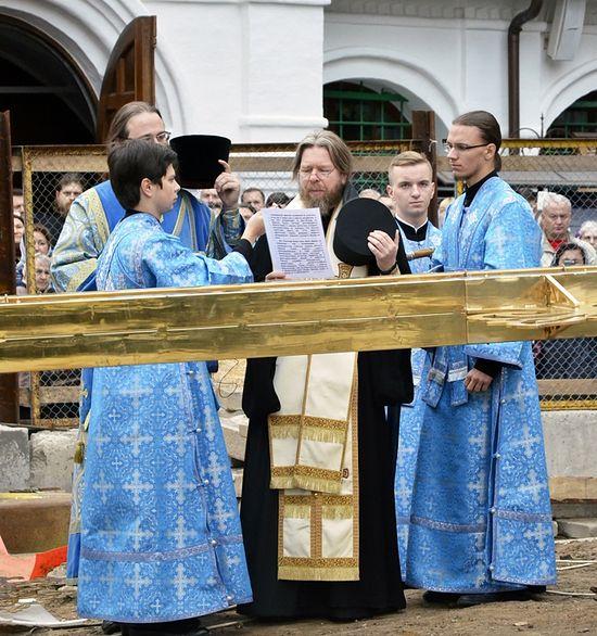 Молитва приликом освећења крста. Фото: јером. Игњтије (Шестаков)