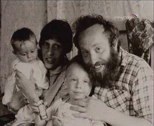 Юрий Норштейн, его супруга Франческа Ярбусова и их дети - Екатерина и Борис