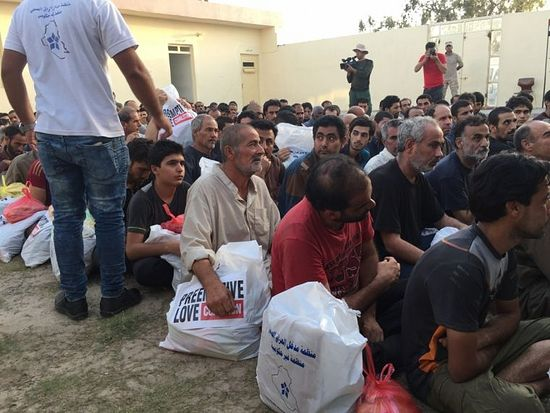 Hundreds of suspected ISIS members held in a detainment compound not far from Fallujah after the city was captured by the Iraqi army.