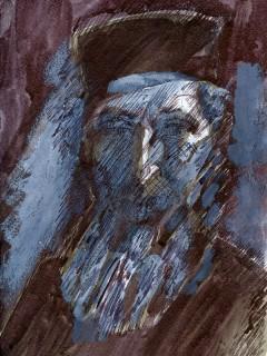 Виктор Калинин, из серии «Монахи и паломники». 2015 год. Бумага, смешанная техника