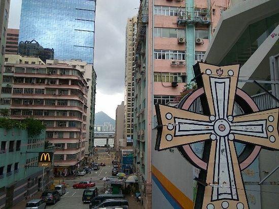 Церковь методистов в Северном Районе. Интересен контраст вывесок...