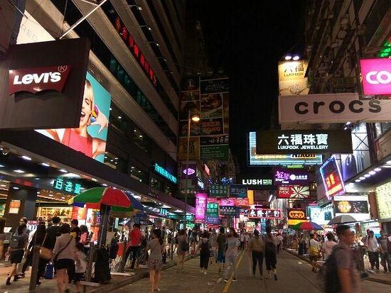 Ночной Гонконг в континентальной его части – на Коулуне.
