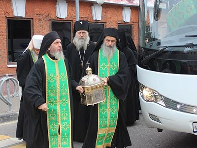 Мощи святого Силуана Афонского доставлены в Москву(+Фото)