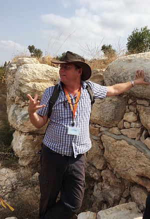 Bible Lands curator Yehuda Kaplan. Credit: Maayan Jaffe-Hoffman.