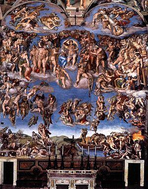 Страшный суд. Фреска Микеланджело в Сикстинской капелле