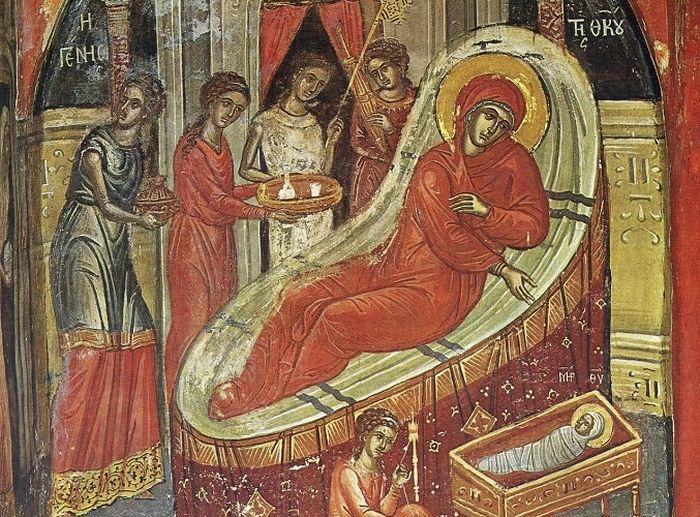 Рождество Пресвятой Богородицы. XVI в., монастырь Ставроникита, Афон