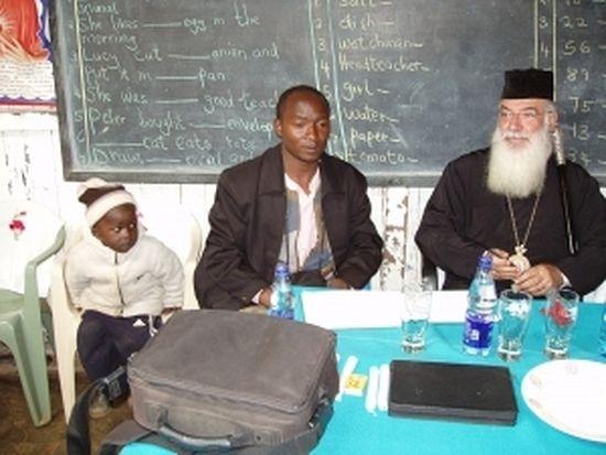 Bishop Makarios of Kenya at St. Barnabas Orthodox Orphanage and School