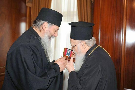 Отец Георгий (Алеврас) и Вселенский патриарх Варфоломей