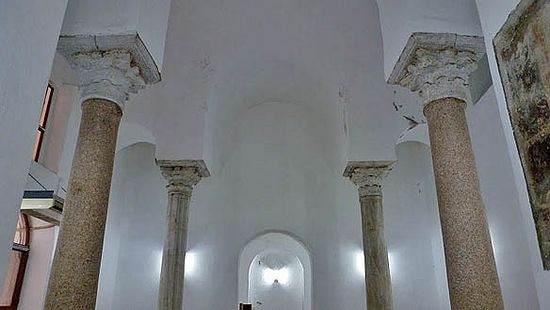 The secondary church, located beneath the current mosque