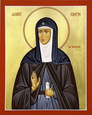 An icon of St. Edith of Wilton (taken from Pinterest.com)