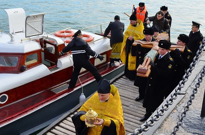 Maritime procession in Sevastopol