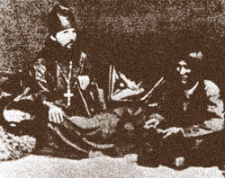 Иеромонах Макарий в юрте алтайца
