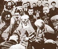 Святитель Макарий (Невский) и преподобномученица Великая Княгиня Елизавета во время молебна