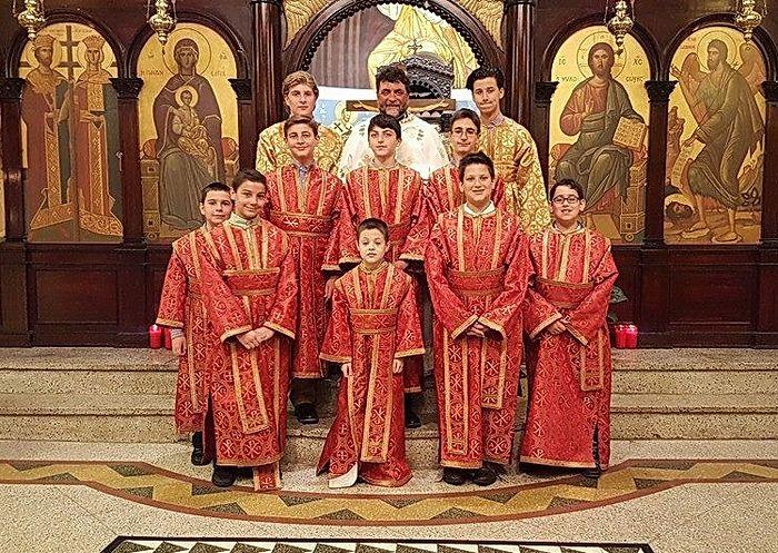 Алтарники Храма свв. Константина и Елены в Бруклине