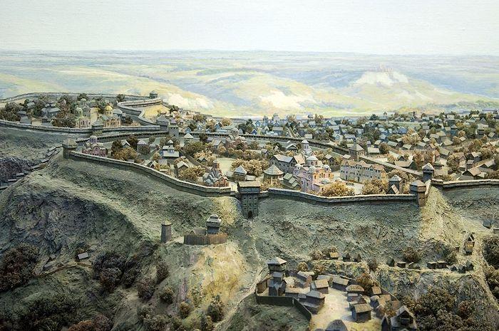 Панорама древнего Киева (фрагмент)