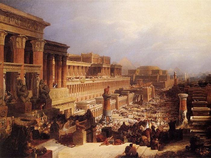 Д.Робертс. Исход израильтян. 1829