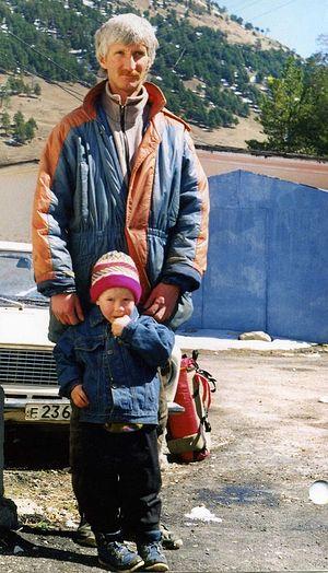 Игорь Розин с сыном, начало 90-х
