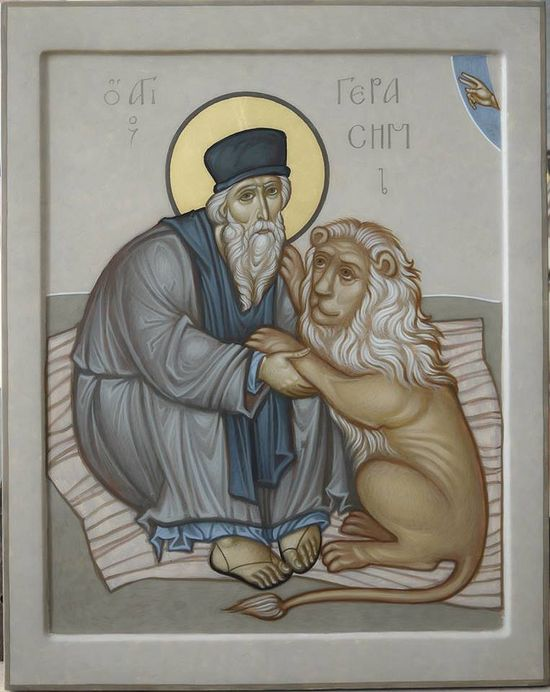 St. Gerasimos with Lion