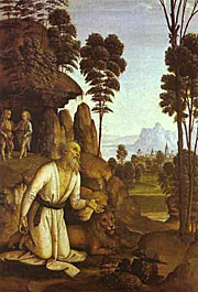 Pietro Perugino. St. Jerome in the Wilderness