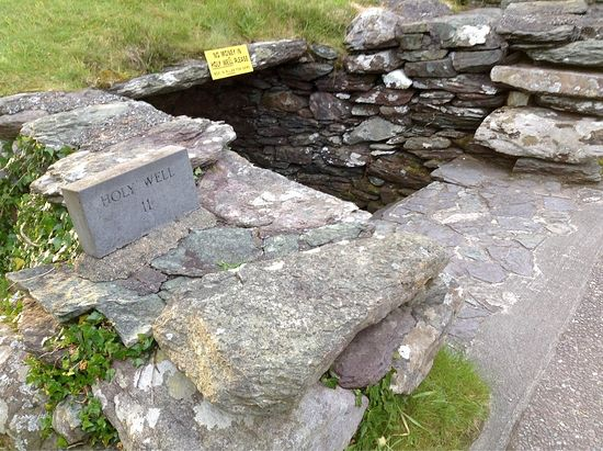 Holy well of St. Finbarr at Gougane Barra. Photo: Trover.com.