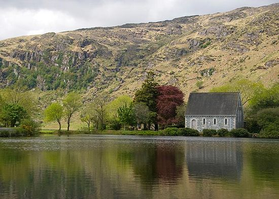 St. Finbarr's Chapel at Gougane Barra, Cork. Photo: Evoke.ie.