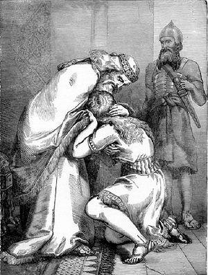 Ф.Лейтон. Давид прощает Авессалома