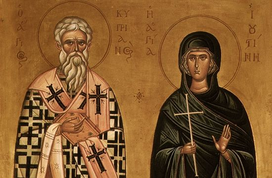 Holy Hieromartyr Cyprian and Virgin Justina.