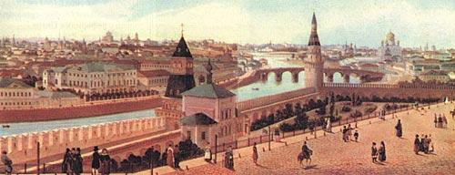 Индейцев – Панорама Москвы в 1850 году