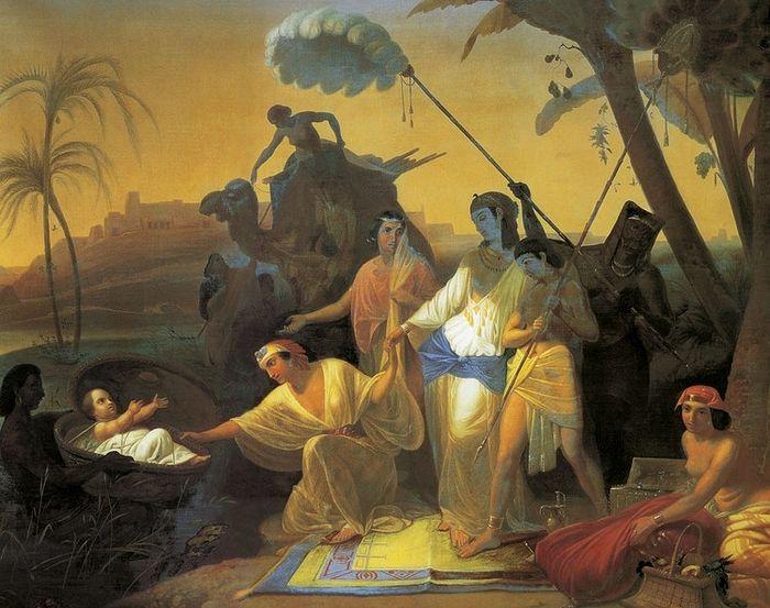 Флавицкий К.Д. Нахождение Моисея дочерью фараона