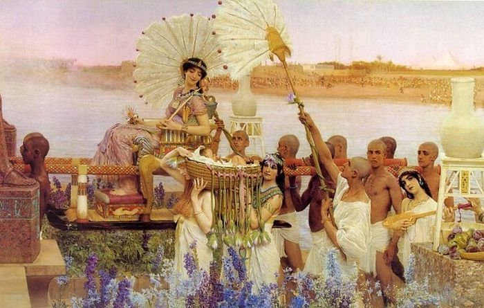 Сэр Ло́уренс А́льма-Таде́ма. Обретение Моисея. 1904 г.
