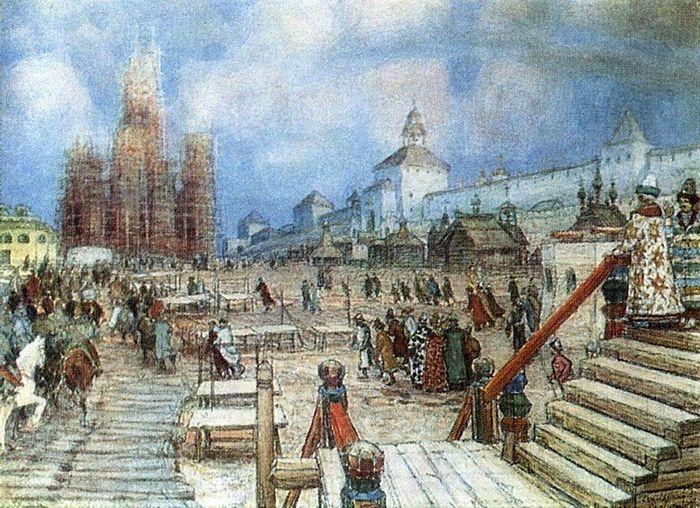 Васнецов А.М. Москва при Иване Грозном