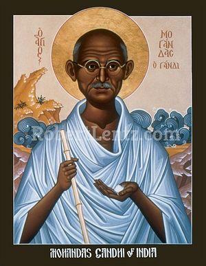 Икона «святого Ганди». Фото: robertlentz.com