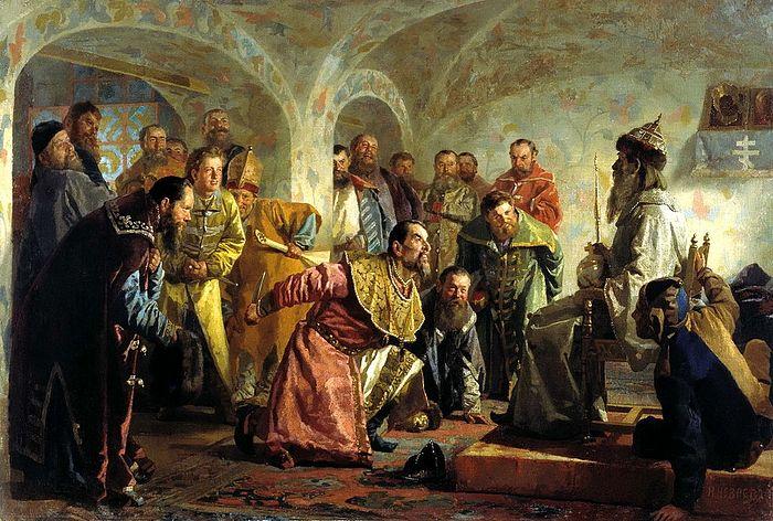 Н. В. Неврев. «Опричники»
