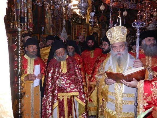 Игумен Дохиара архимандрит Григорий и владыка Евстафий